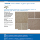 Charcon World Granite flag paving and setts Colour - G2050 Yellow
