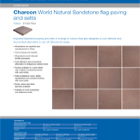 Charcon World Granite flag paving and setts Colour - S1060 Red