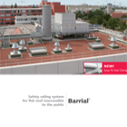 Barrial roof edge protection.  Fixed variations