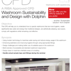 CPD: Washroom Sustainability and Design with Dolphin