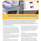 Project Datasheet: Airdrie Community Health Centre