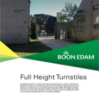 Full Height Turnstiles Catalogue