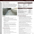 Cementitious Waterproofing Membrane: Newton 101F Technical Data