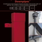 Square Aluminium Rainwater Downpipes