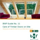 Care of Timber Doors on Site