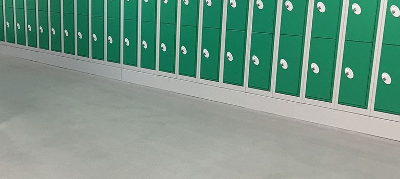 Hygienic flooring for changing rooms and staff areas