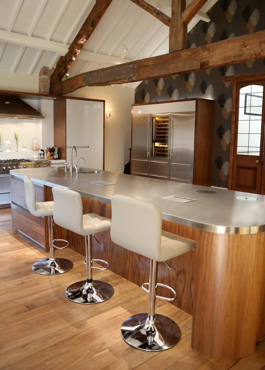 Contemporary stainless steel Worktops stand the test of time