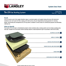TA-25 Flat Roofing System Data Sheet