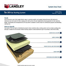 TA-30 Flat Roofing System Data Sheet