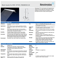 Mesh beads for EWI / ETICS: RB6MESH-30