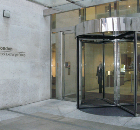 Glass revolving door, London Stock Exchange
