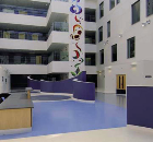 External view of noraplan<sup>®</sup> signa flooring for Manchester Joint Hospitals