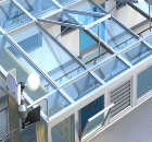 Atria natural ventilation, used in the education sector