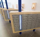 Bespoke mailbox design with timber cladding and lighting enclosure