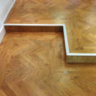 Eazy Fit Parquet Herirngbone Edge Detail in the Cordon Bleu School of Cookery London