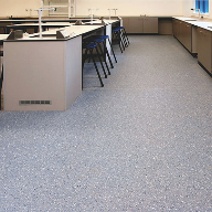 Homogeneous heavy duty flooring