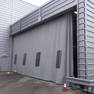 Westgate Factory Dividers Flexicurtain Weather Protection