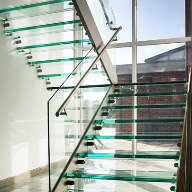 Buttery Glass Staircase