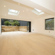 Engineered White Fire Resistant Lacquered Oak Floor E155
