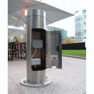 FURNITUBES Kenton Service Stainless Steel Bollard Canary Wharf London