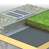 Origal aluminium gravel-protection strips and boxes
