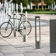 Landscape Forms Reeder Illuminated Cycle Stand