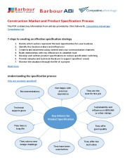 Construction Market and Product Specification Process