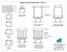 SL-102 Ceiling track and fixing options - Type 100