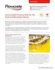 Antomicrobial flooring facts for the food and beverage industry