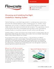 Choosing and installing the right underfloor heating system