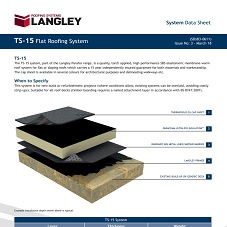 TS-15 Flat Roofing System Data Sheet