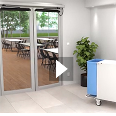 Swing doors: Learn more about the double acting functionality