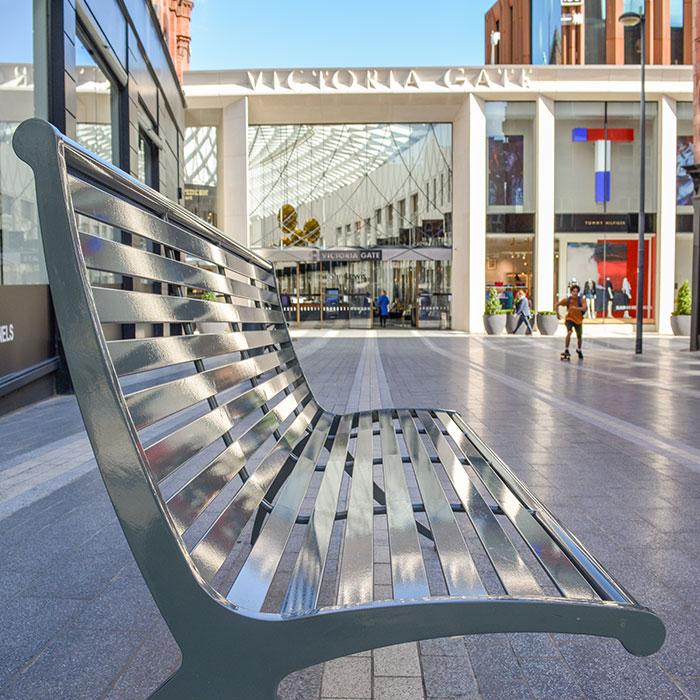 Modern Artform street furniture for beautiful Victoria Gate