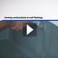 Forming Vertical Joints at wall flashings in Rhepanol fk single ply membrane