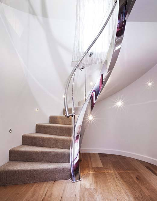 Helical staircase brings artistic effect to Jersey home