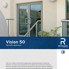 Vision 50 swing entrance aluminium door