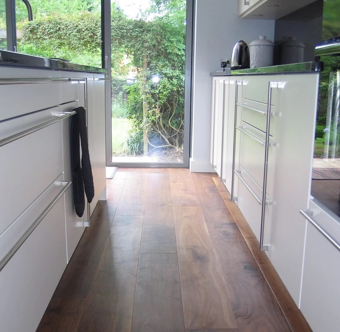 Black American Walnut Flooring Lacquered Finish