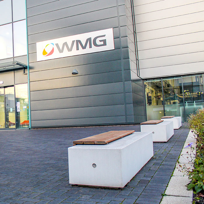 High Performance Concrete benches for University of Warwick
