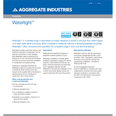 Watertight™ Tech Data Sheet
